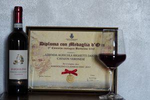 Medaglia d'Oro miglior Bardolino Classico DOC