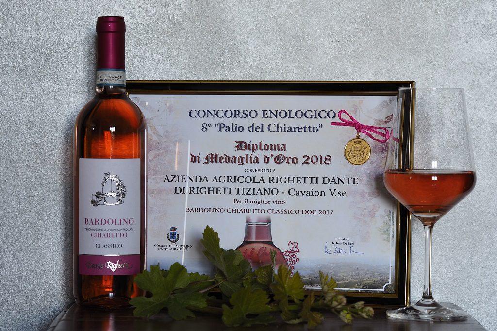 Medaglia d'Oro miglior Chiaretto Bardolino